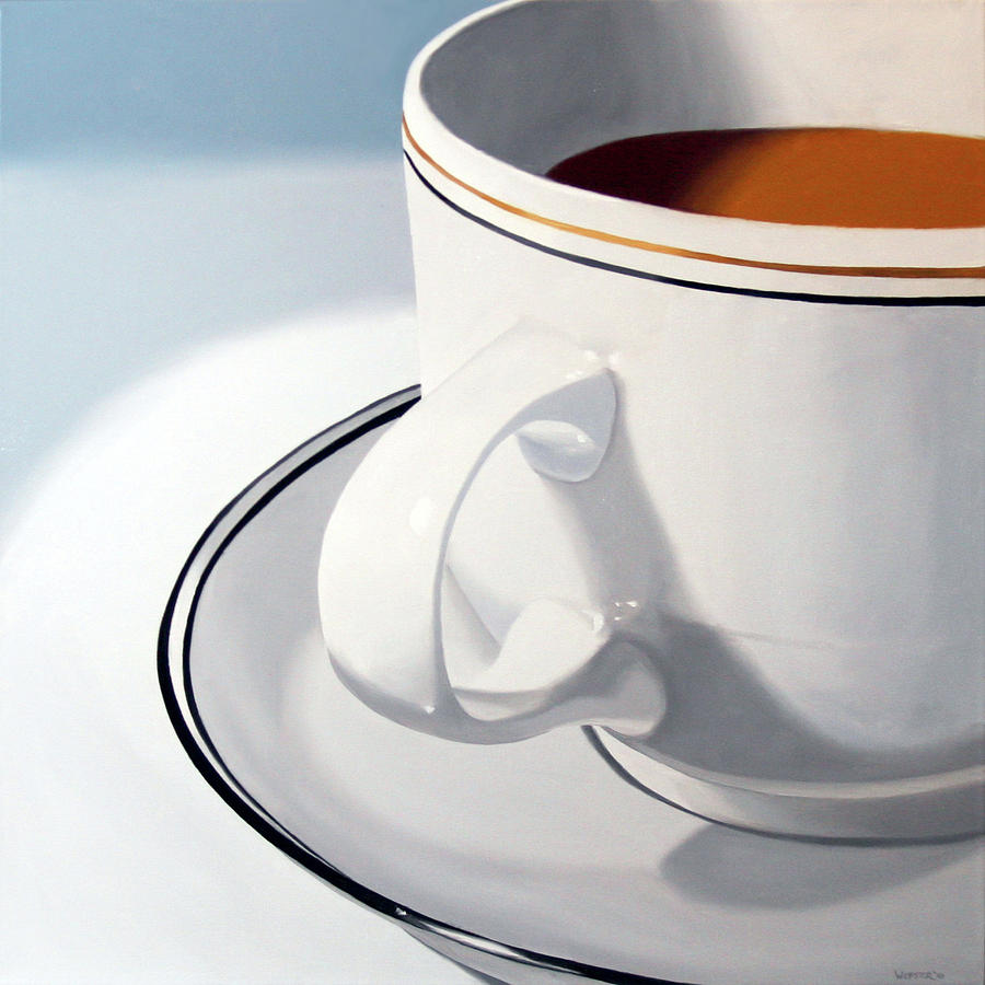 Coffee Cup Painting On Canvas
