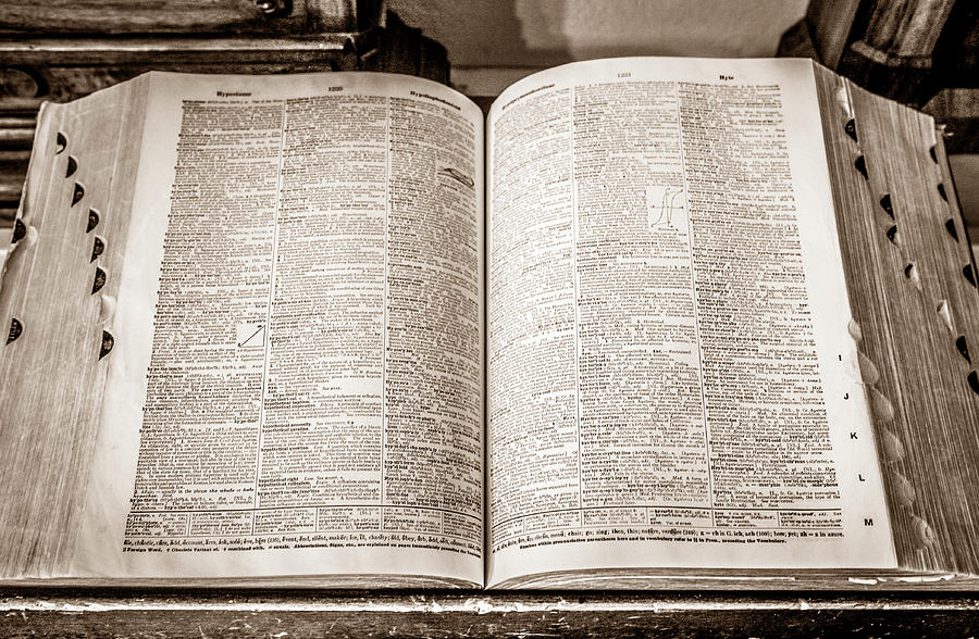 Colorado Photograph - Large Old Dictionary by Marilyn Hunt