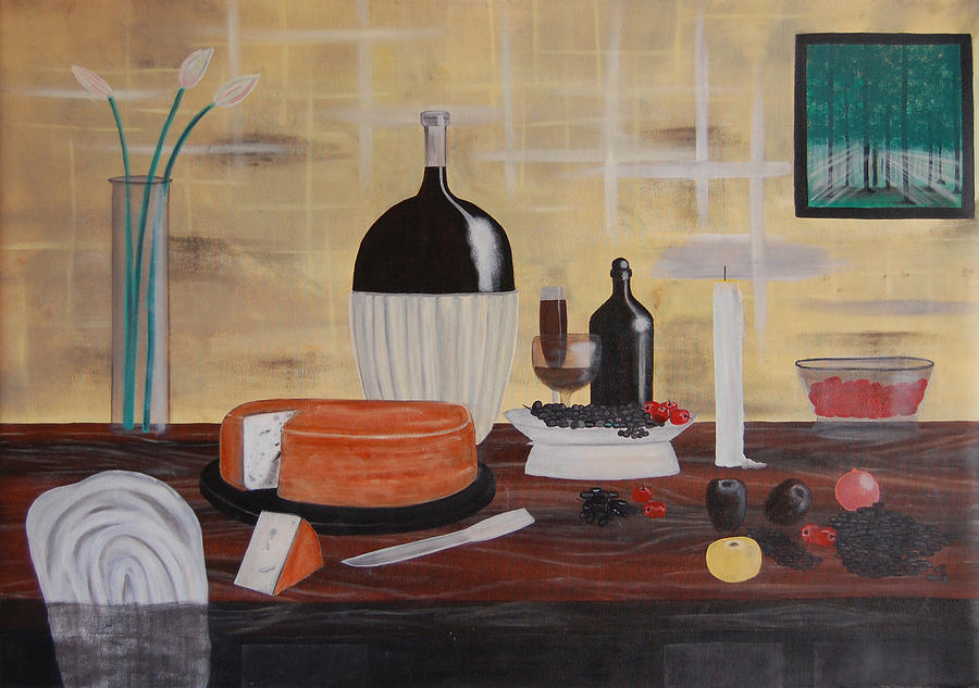 Still Life Painting - Large One by Senthil Kumar