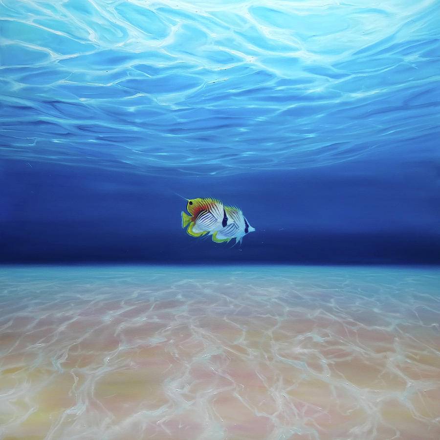 LARGE ORIGINAL Oil Painting - Free Under the Sea - a large ...