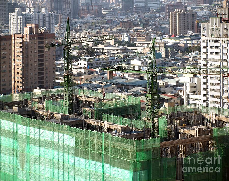 Construction Photograph - Large Scale Construction Site by Yali Shi