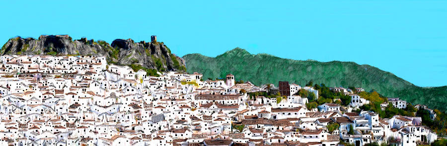 Spain Painting - Large Village in Andalucia by Bruce Nutting