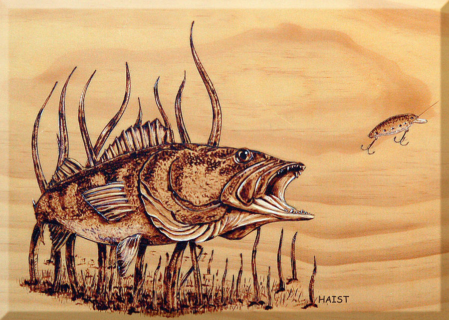 Largemouth Bass is a pyrography by Ron Haist which was uploaded on ...