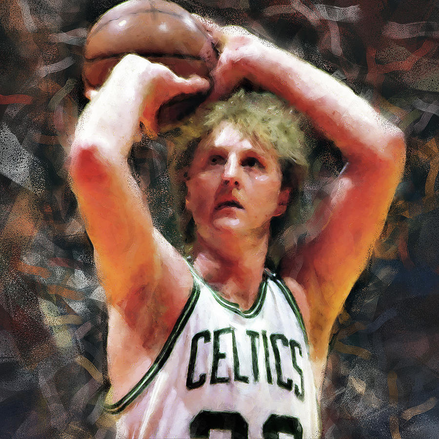 Larry Painting - Larry Bird - 05 by Andrea Mazzocchetti