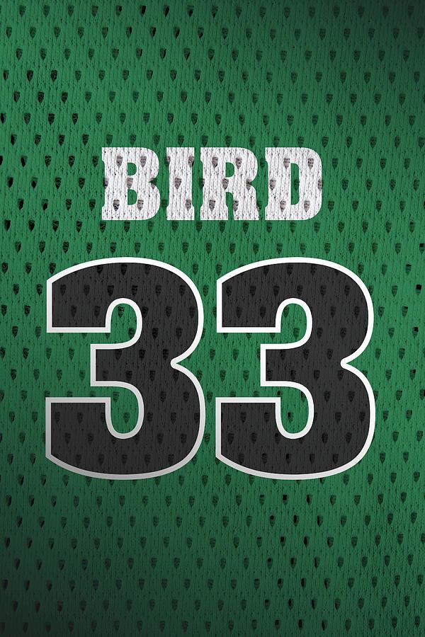 finest selection 2b34d 70e42 Larry Bird Boston Celtics Retro Vintage Jersey Closeup Graphic Design by  Design Turnpike