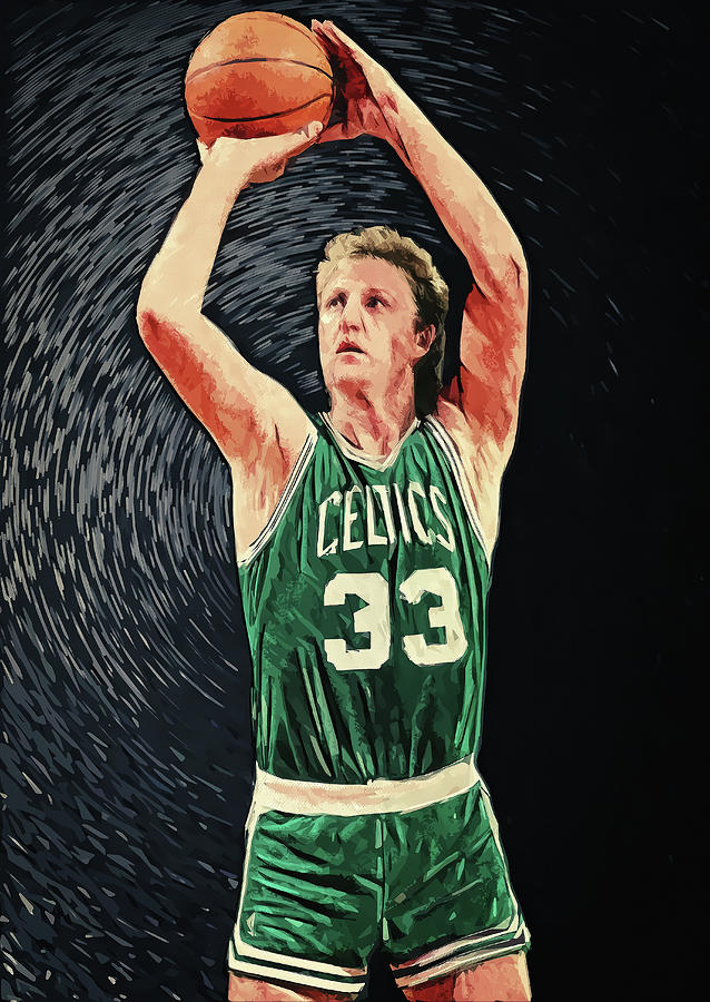 Larry Bird Digital Art - Larry Bird by Zapista OU