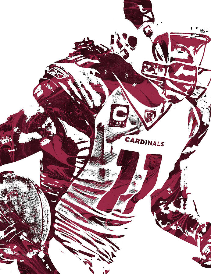 Larry Fitzgerald Mixed Media - Larry Fitzgerald Arizona Cardinals Pixel Art 1 by Joe Hamilton
