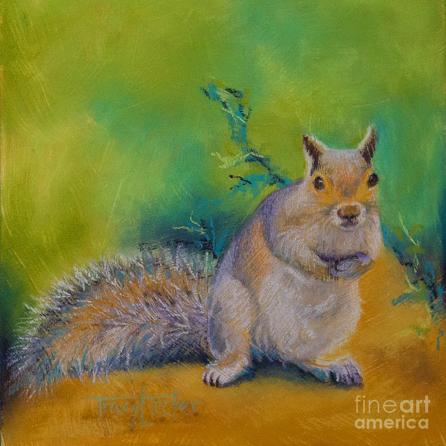 Squirrel Pastel - Larry by Tracy L Teeter