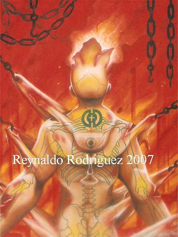 Las Cadenas de la Vida Painting by Reynaldo  Rodriguez