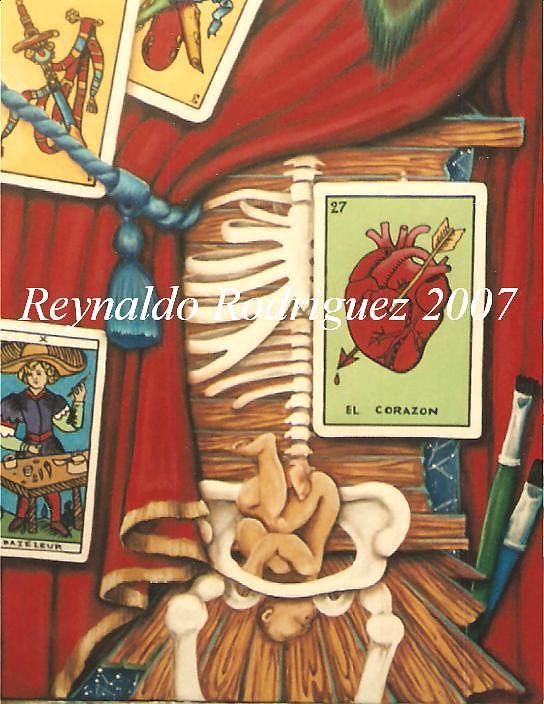Las cartas estan hechadas Painting by Reynaldo  Rodriguez