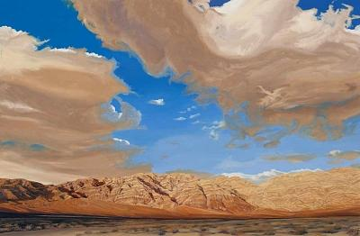 Las Chance Mountains Death Valley Ca Painting by Mary-Austin Klein