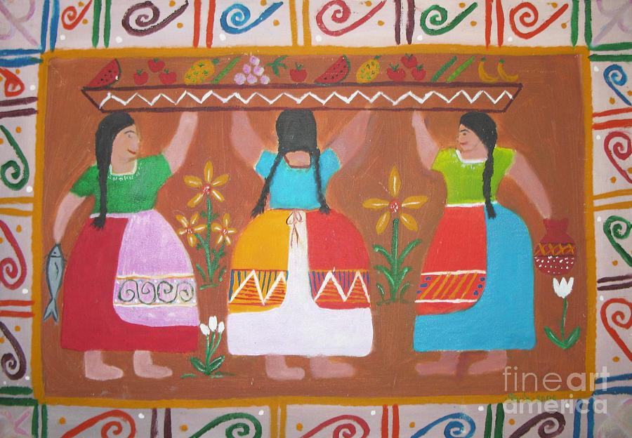 Hispanic Painting - Las Comadres by Sonia Flores Ruiz