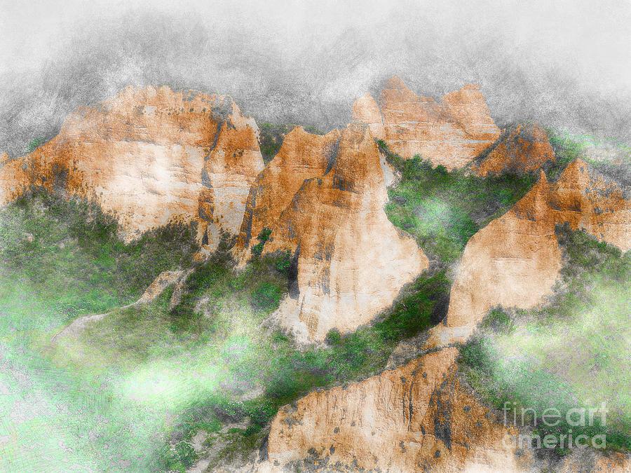 Mountains Mixed Media - Las Medulas by Ivan Gomez