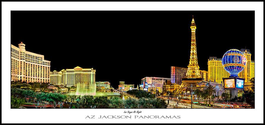 Las Vegas Photograph - Las Vegas At Night Poster Print by Az Jackson