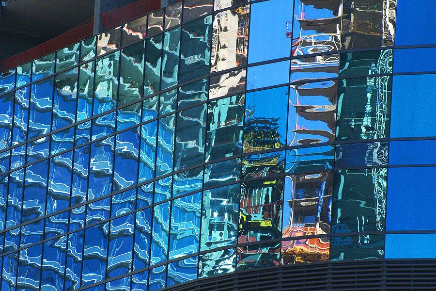 City Center Photograph - Las Vegas City Center Reflection by Richard Henne