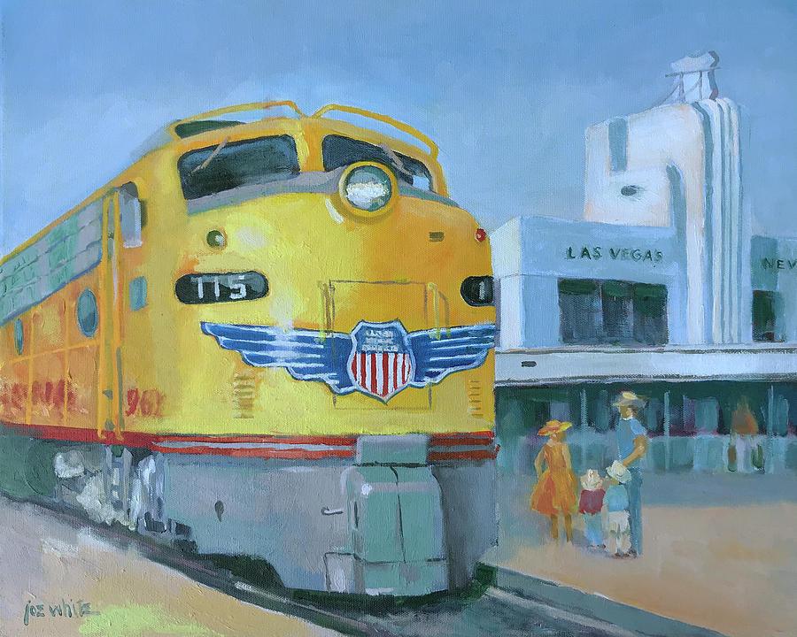 Las Vegas Painting - Las Vegas Dream Train by Joe White