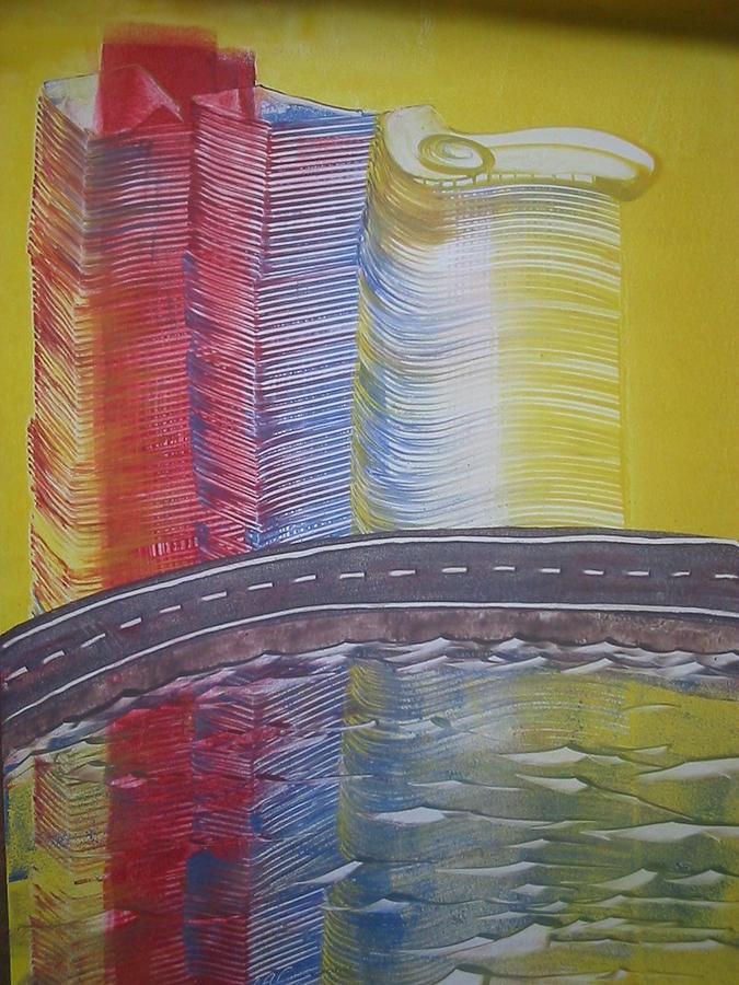 Las  Vegas Lake Painting by Sergio Alexandre