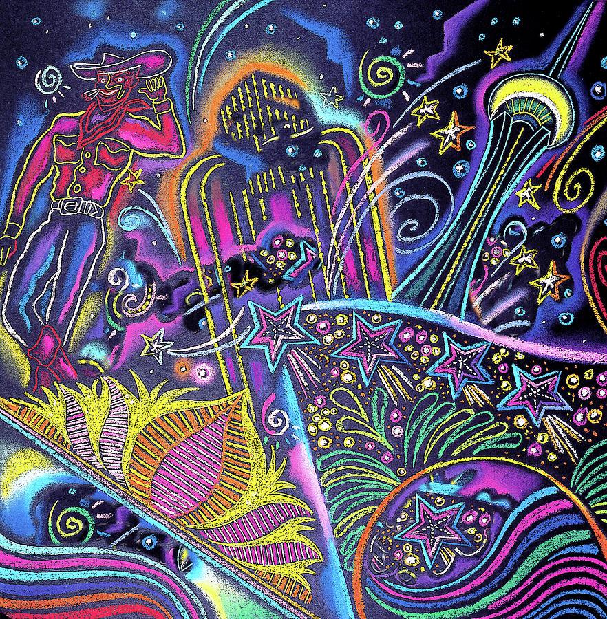 Las Vegas Painting by Leon Zernitsky