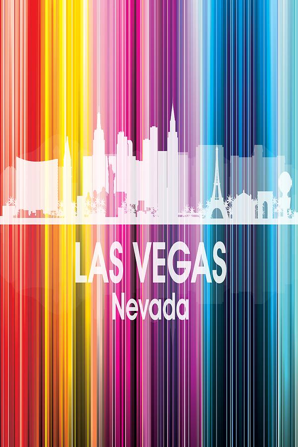 Las Vegas Digital Art - Las Vegas Nv 2 Vertical by Angelina Tamez