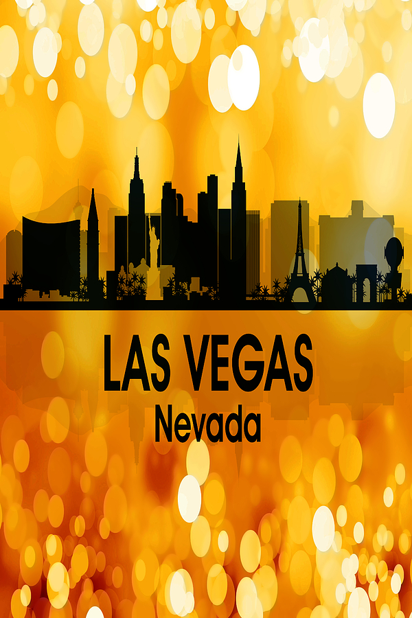 Las Vegas Digital Art - Las Vegas Nv 3 Vertical by Angelina Tamez