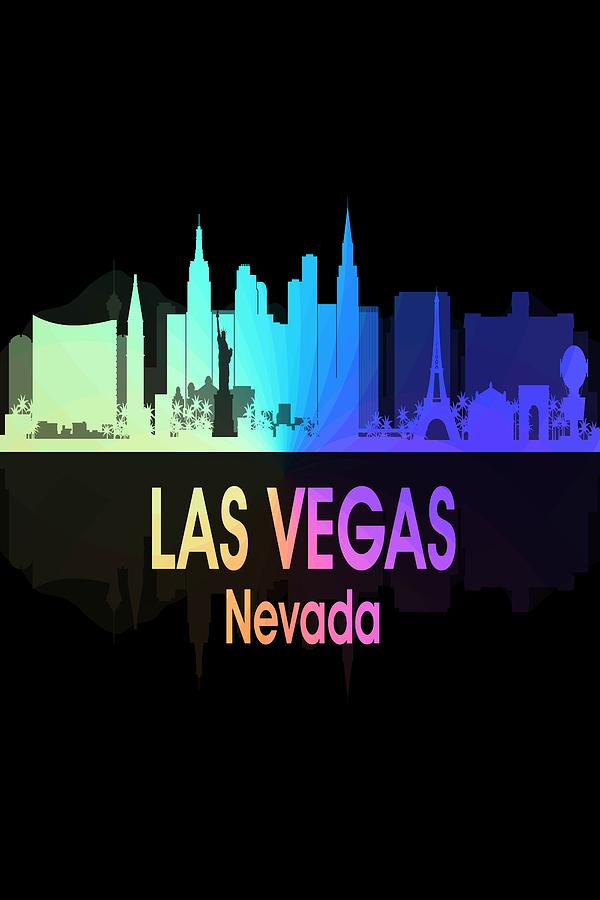 Las Vegas Digital Art - Las Vegas Nv 5 Vertical by Angelina Tamez