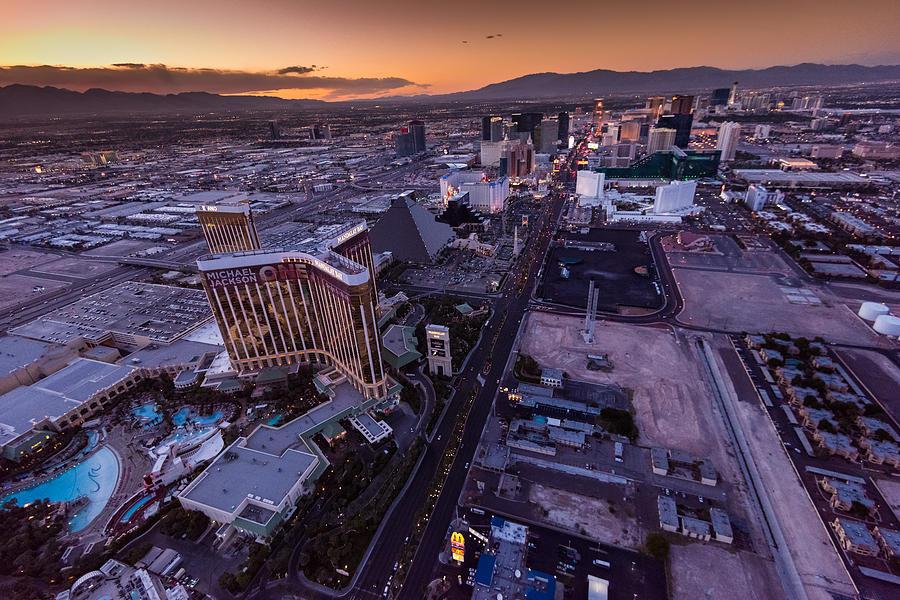 Las Vegas Photograph - Las Vegas Strip Aloft by Steve Gadomski