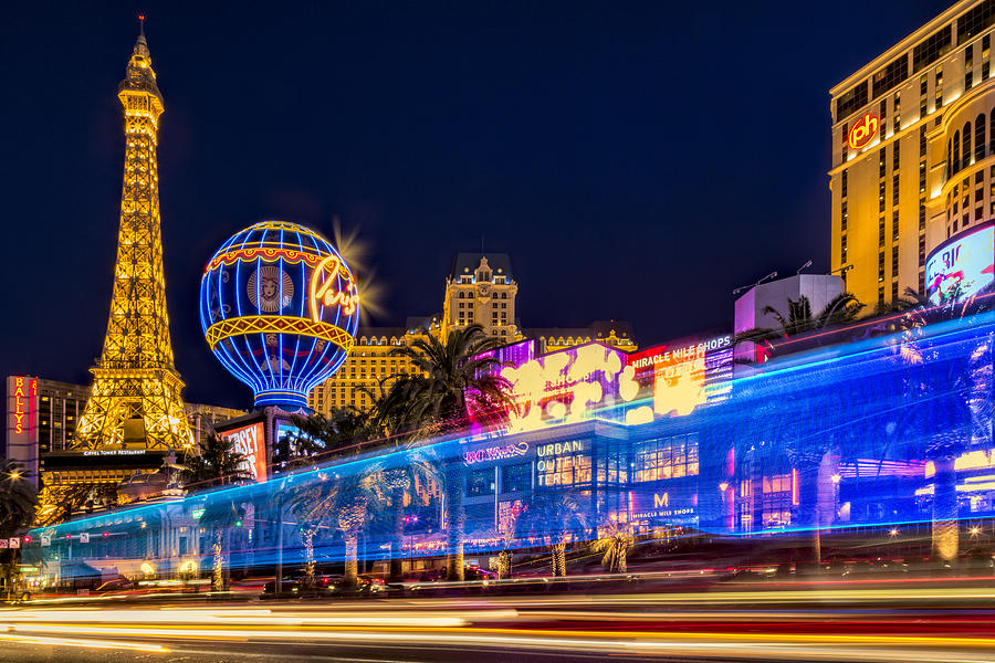 Las Vegas Photograph   Las Vegas Strip Light Show By Susan Candelario