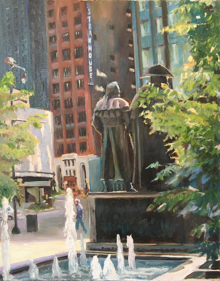 Lasalle St Painting - Lasalle Street by Stuart Roddy