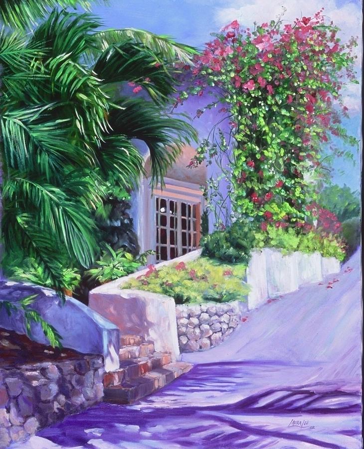 Landscape Painting - Lasamana by Laura Lee Zanghetti