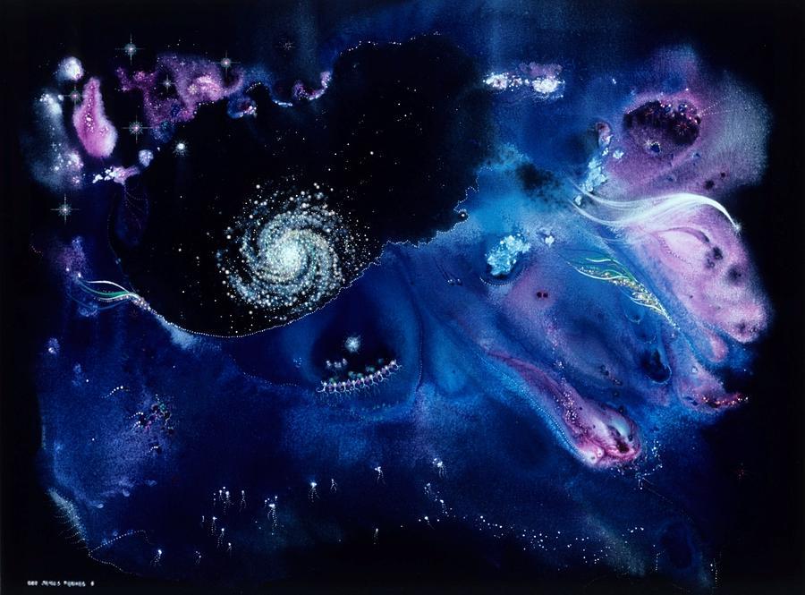 Spiritual Painting - Lascaux Stardance by Lee Pantas