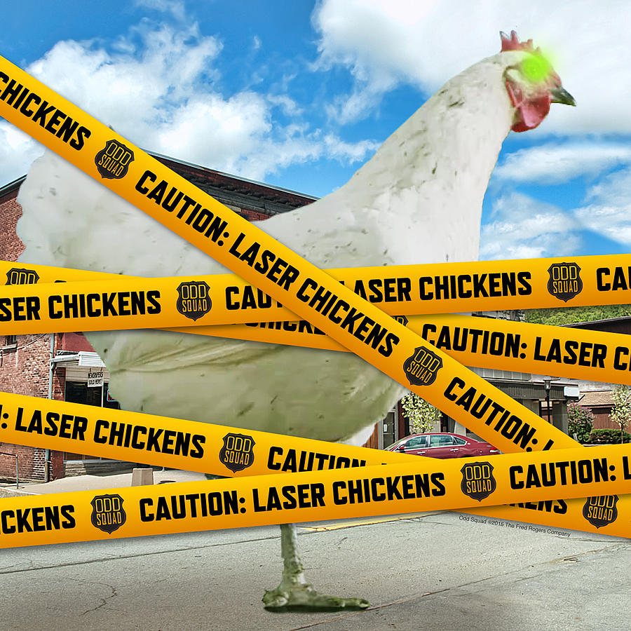 laser chicken photograph by odd squad
