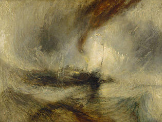 Turner Pastel - Lashed To The Mast Homage To Turner by Chris Mackie