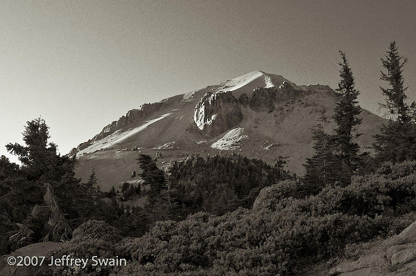 Landscape Photograph - Lassen Peak by Jeffrey Swain