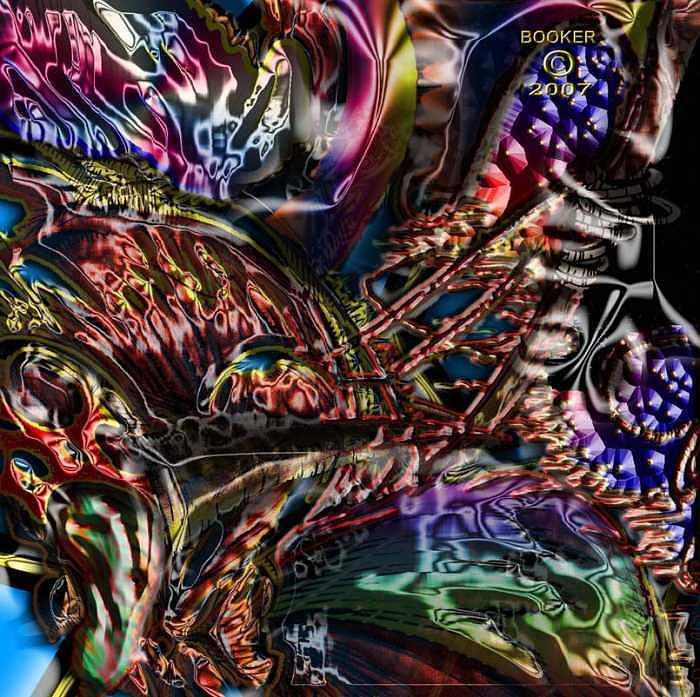 Contemporary Mixed Media - Lasso Tree by Booker Williams