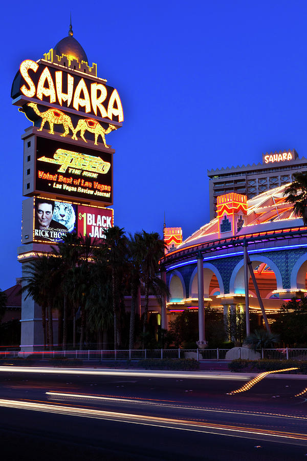 Las Vegas Photograph - Last Call For The Sahara by James Marvin Phelps