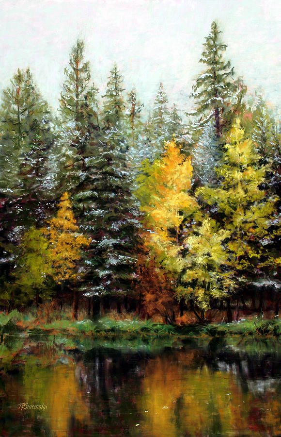 Landscape Painting - Last Call by Mary Giacomini