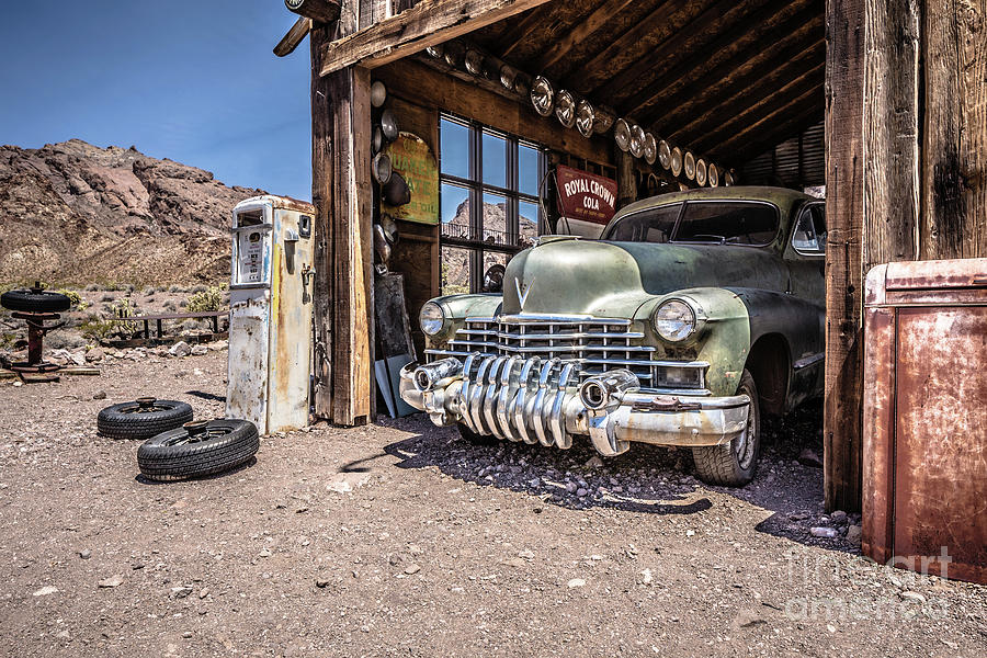 Last Chance Gas - Old Desert Garage by Edward Fielding