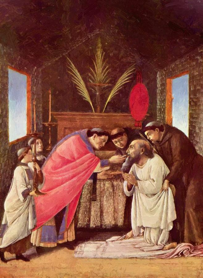 Last Painting - Last Communion Of St Jerome by Botticelli Sandro