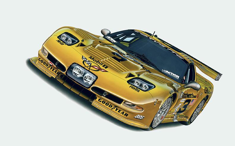 Cars Painting - Last Corvette Dale Raced by Hugo Prado