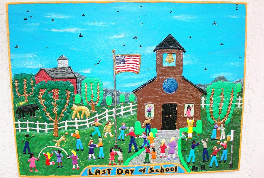 Puff Painting - Last Day Of School by Jack Beverland