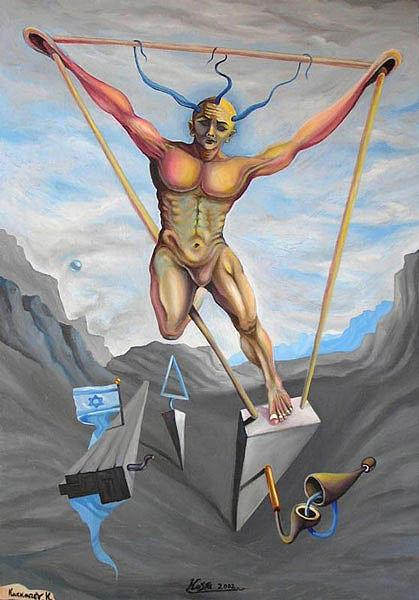 Modern Painting - Last Defender Of Zion by Kosta