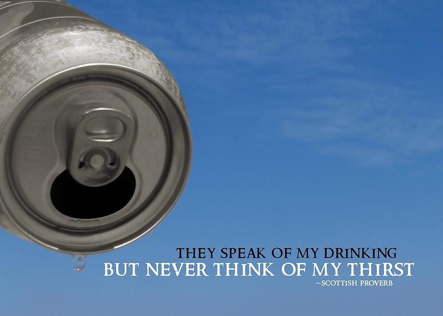 Beer Photograph - Last Drop Quote by JAMART Photography