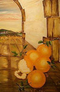 Autumm Painting - Last Harvest by Gerardo Rivas Enriquez