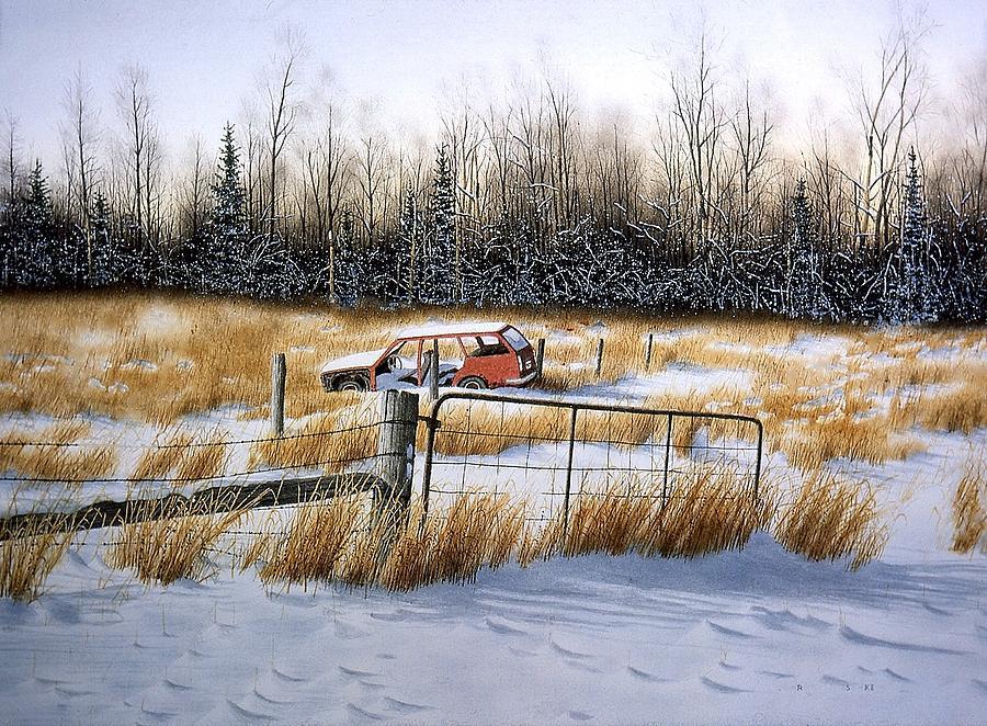 Landscape Painting - Last Journey by Conrad Mieschke