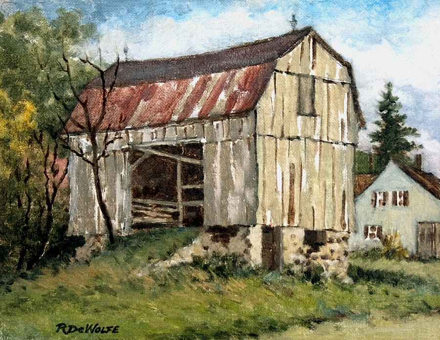 Barn Painting - Last Legs by Richard De Wolfe