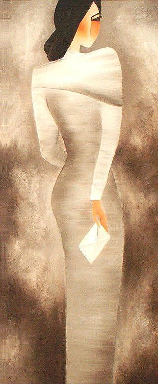 Woman Painting - Last Letter by Anita Burnaz