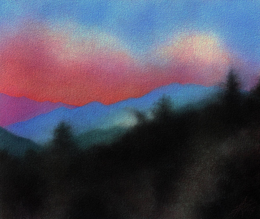 Landscape Painting - Last Light at Red Box Junction by Robin Street-Morris