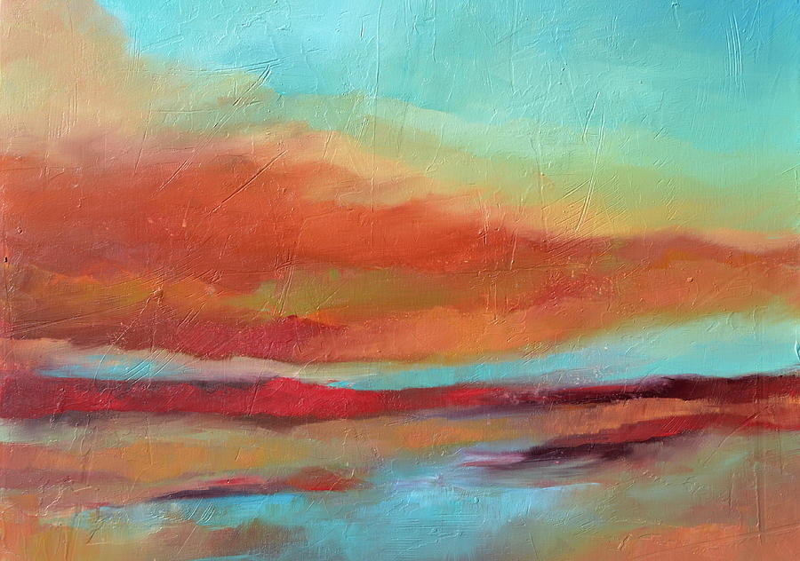Sunset Painting - Last Light by Filomena Booth