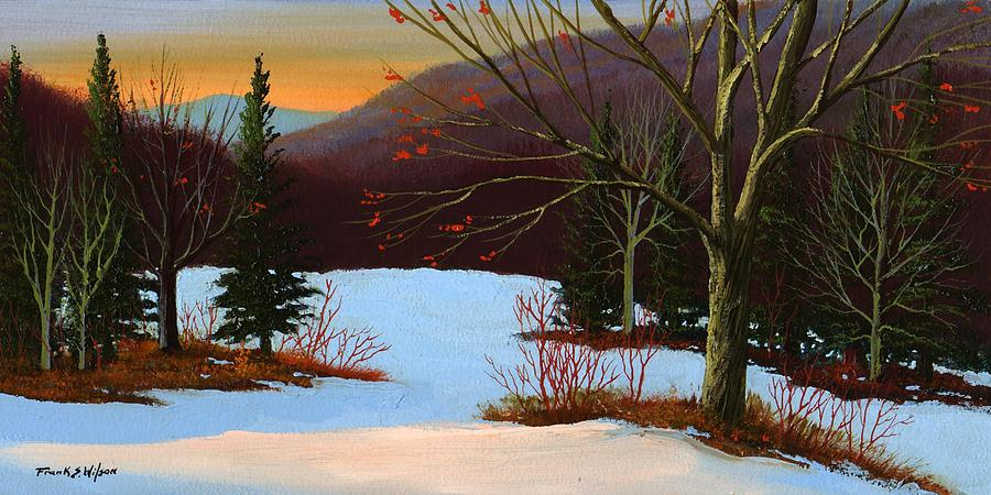 Winter Painting - Last Light Of Day by Frank Wilson