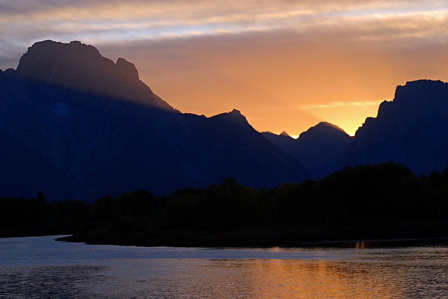 Oxbow Bend Photograph - Last Light Of Day by Larry Ricker